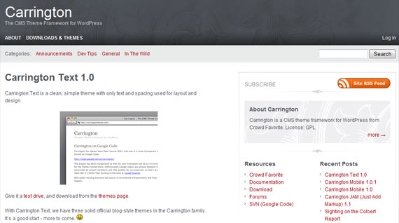 carrington-wordpress-theme-framework
