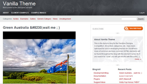 vanilla-theme-wordpress