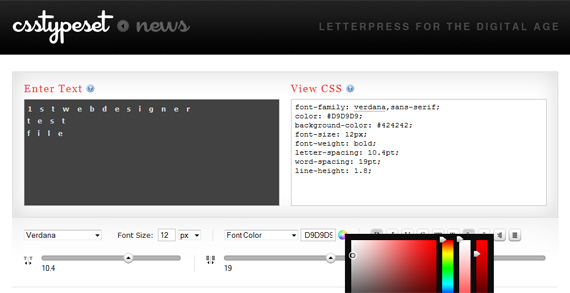 csstypeset-font-toolbox