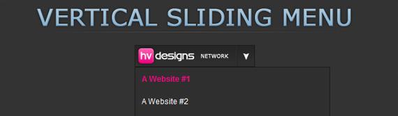 vertical-sliding-menu