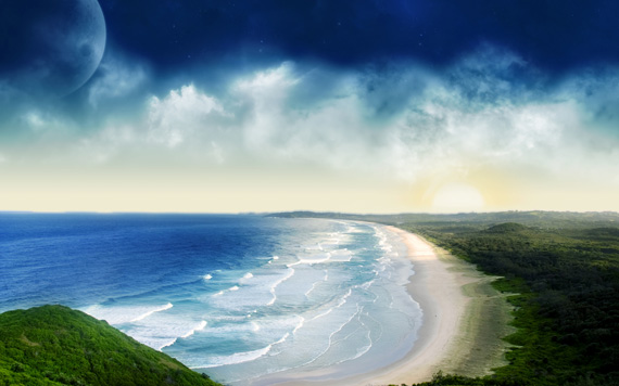 Coastal Sunset desktop-background