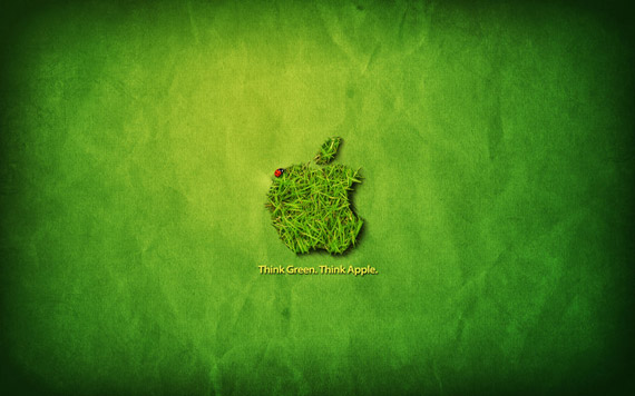 apple mac wallpapers. Apple Think Green-wallpaper