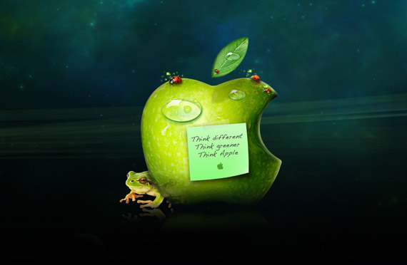 Think green apple-wallpaper