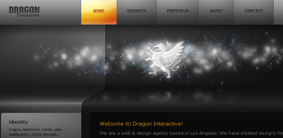 dragon-interactive-website-navigation