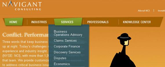 navigant-consulting-website-navigation