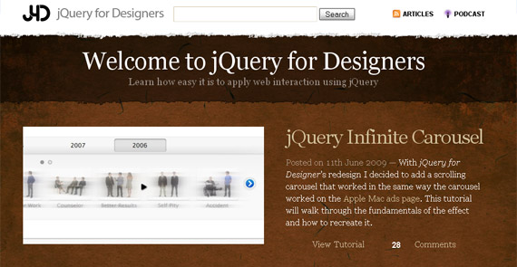 jquery-for-designers-tutorial-website