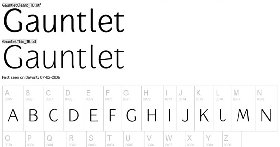 gauntlet-free-high-quality-font-for-download