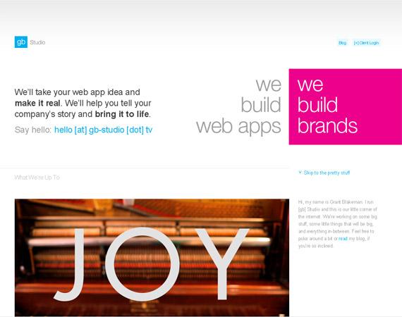 gb-studio-minimalist-web-design-inspiration