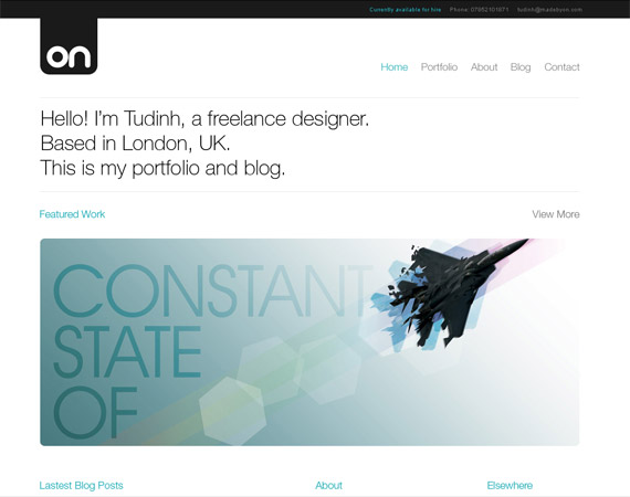 70 Typographic, Clean And Minimalist Color Scheme Web Designs ...
