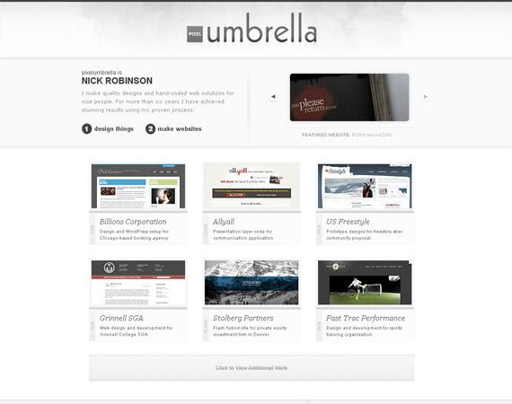 pixel-umbrella-minimalist-web-design-inspiration