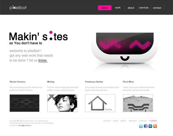 pixelbot-minimalist-web-design-inspiration