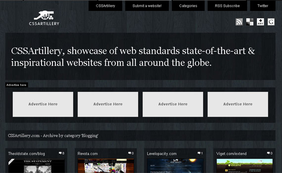 css-artilery-blog-showcase-site