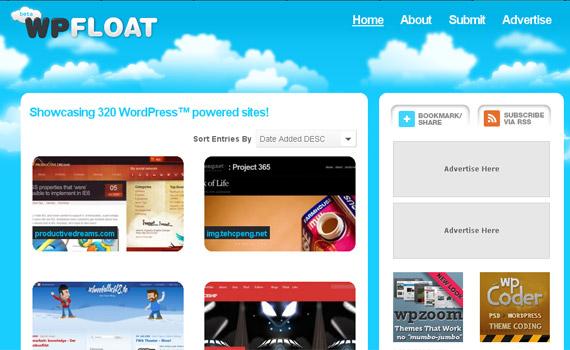 wp-float-blog-showcase-site