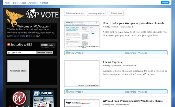 wp-vote-social-bookmarking-site