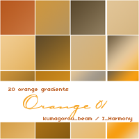 20 soft orange gradients-photoshop