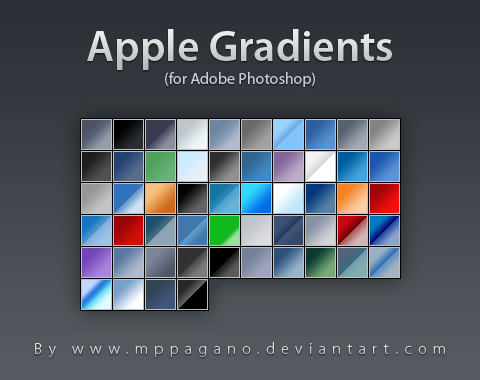 Apple Gradients for-photoshop