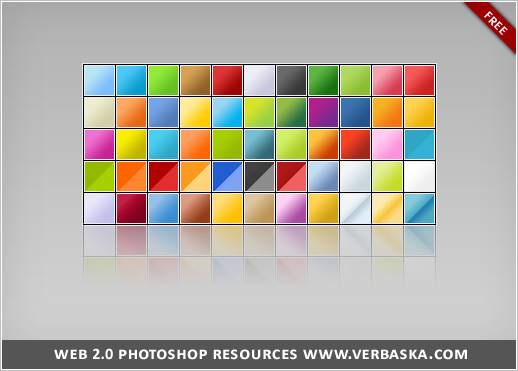 Web 2 0 Photoshop gradients