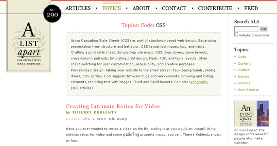 a-list-apart-css-tutorial-web-site-learning