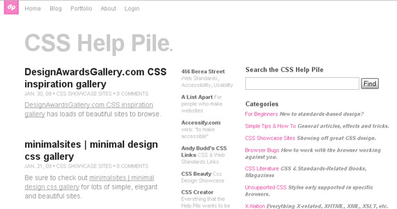 css-help-pile-tutorial-web-site-learning