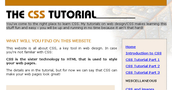 css-tutorial-web-site-learning