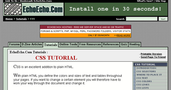 echo-echo-css-tutorial-web-site-learning