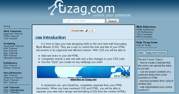 ti-zag-css-tutorial-web-site-learning