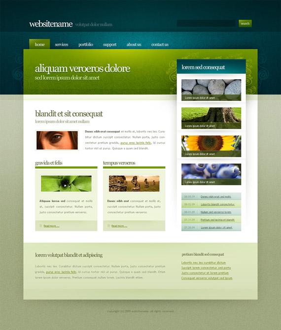 Web Template Designs. 20 free beautiful website templates. well ...