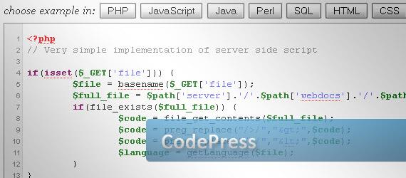codepress-online-syntax-highlighter