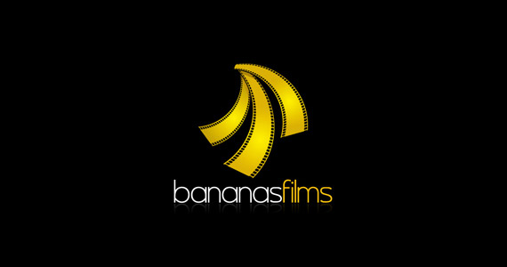 bananas-films-creative-gradient-3d-logo-design
