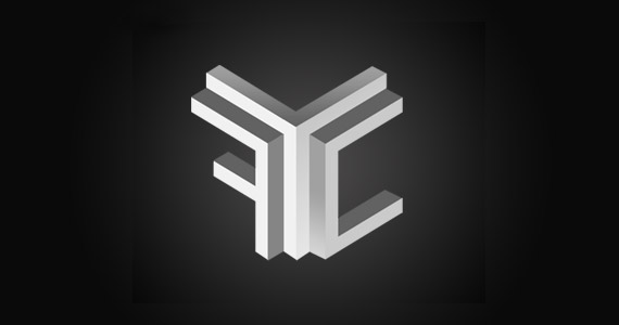 fyc-creative-gradient-3d-logo-design