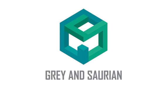 grey-and-saurian-creative-gradient-3d-logo-design