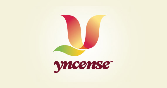 yncense-creative-gradient-3d-logo-design