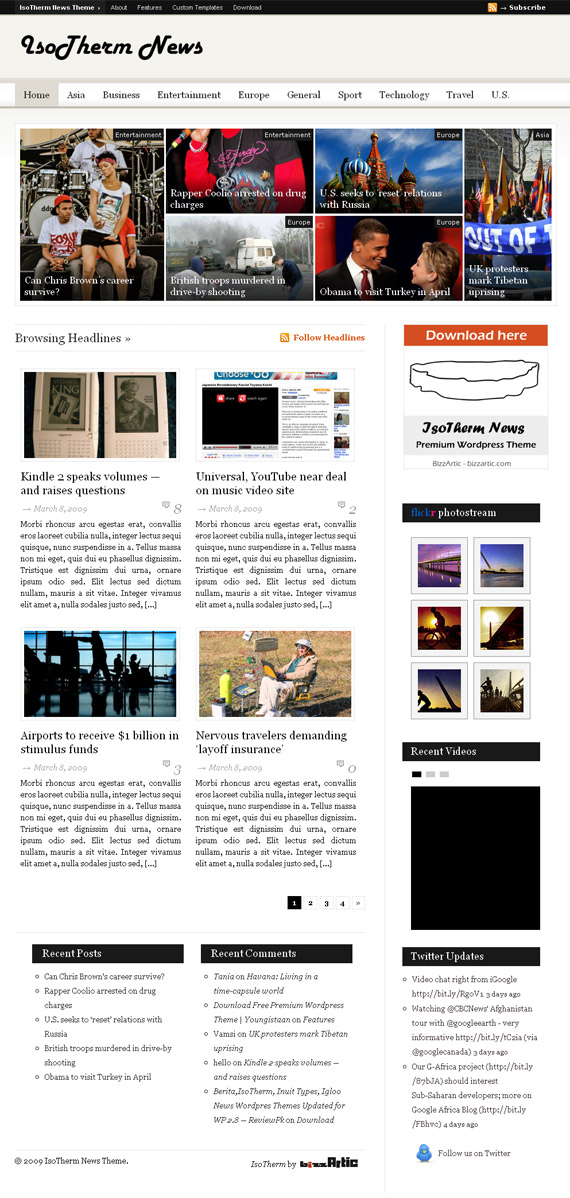 Wordpress Newspaper Template Free Download Kubreforic