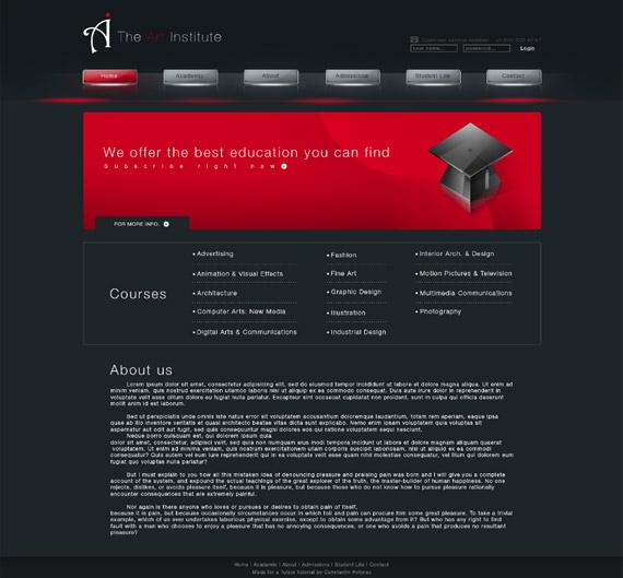 art-institute-photoshop-web-layout-tutorial