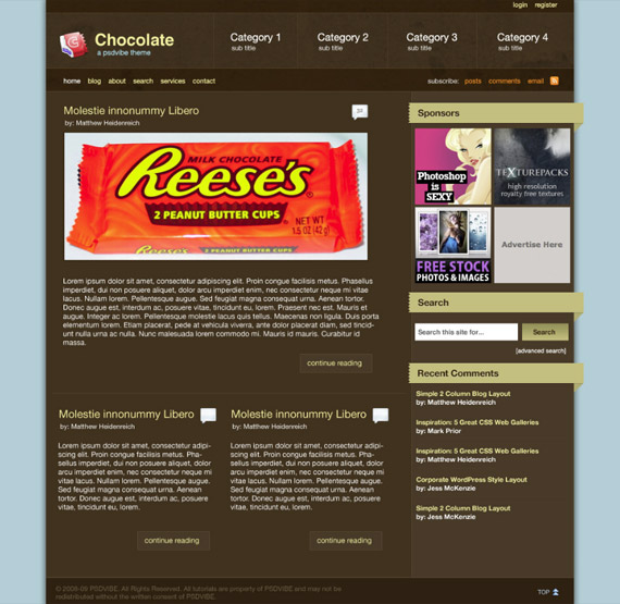 chocolate-photoshop-web-layout-tutorial