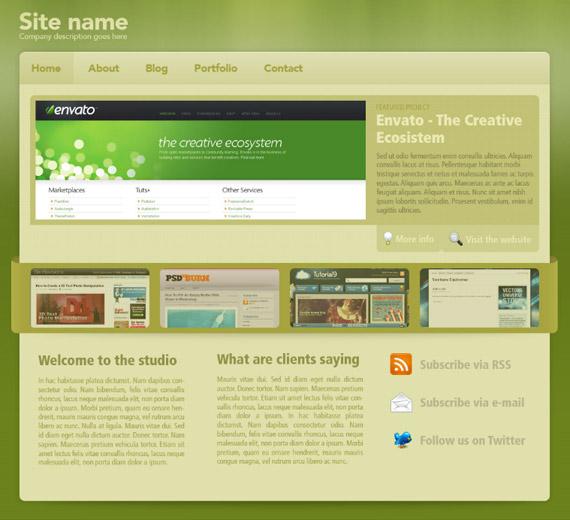 green-sleek-photoshop-web-layout-tutorial