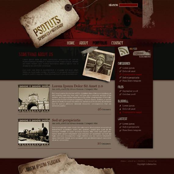 grunge-webdesign-photoshop-web-layout-tutorial