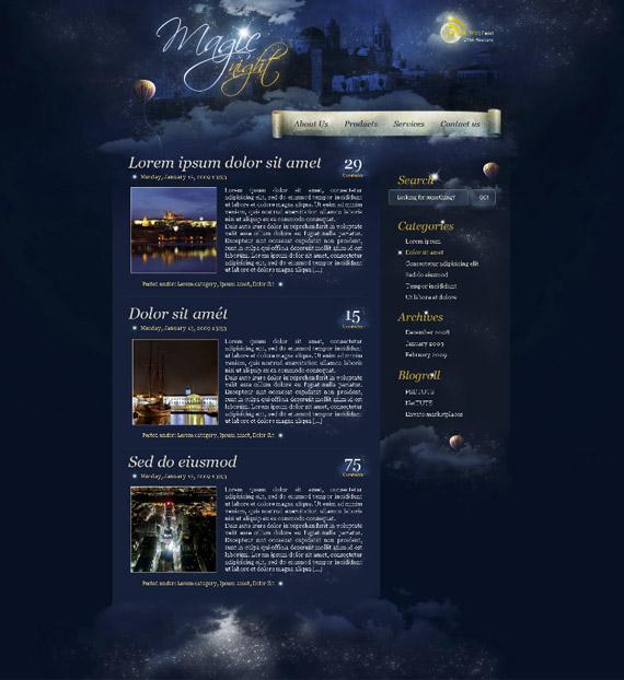 magic-night-photoshop-web-layout-tutorial