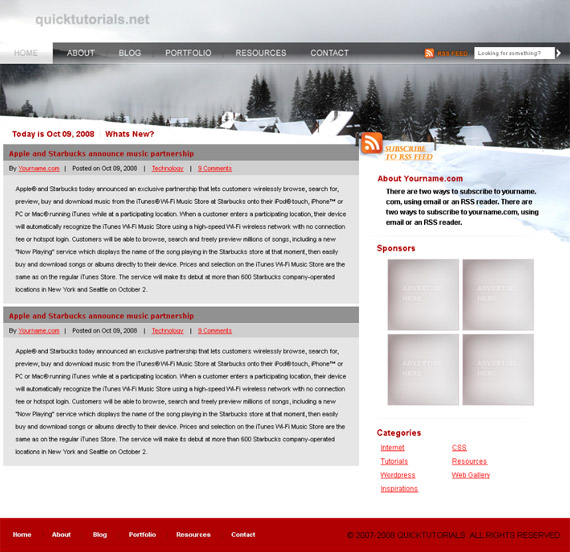 winter-wordpress--photoshop-web-layout-tutorial