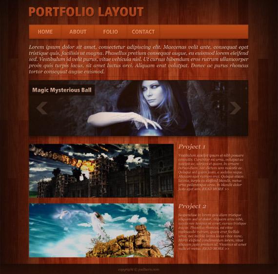 wood-portfolio-photoshop-web-layout-tutorial