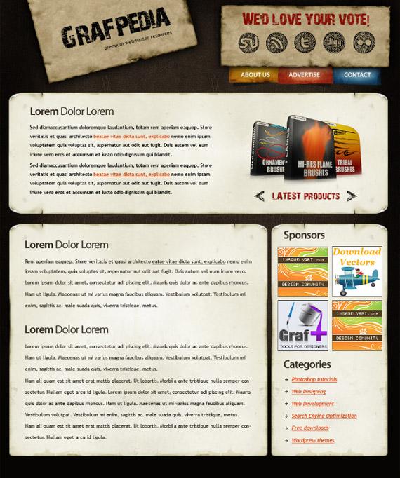 wordpress-grunge-photoshop-web-layout-tutorial