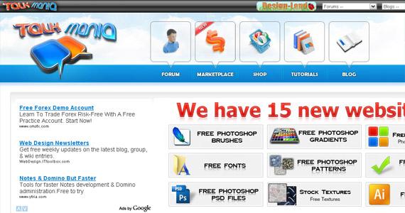 talk-mania-photoshop-web-layout-tutorial-website
