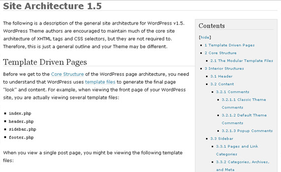 site-architecture-1-5-wordpress-codex