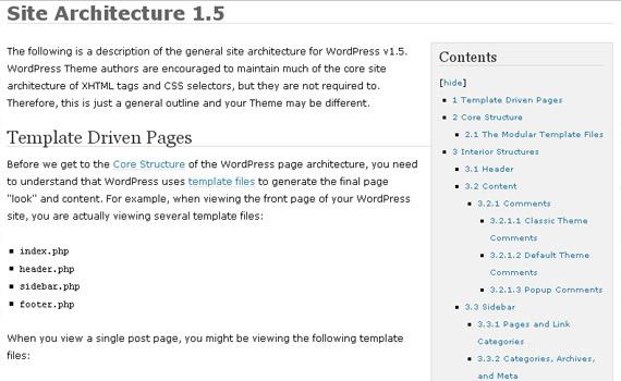 site-architecture-1-5-wordpress-codex