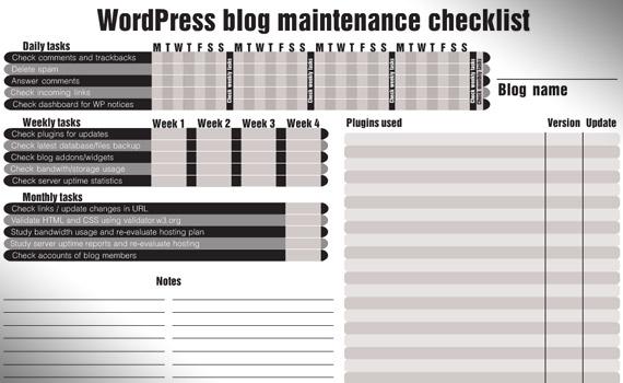 wordpress-blog-maintenance-checklist