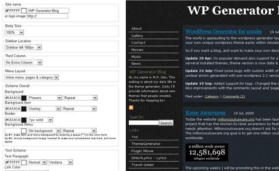 wordpress-online-theme-generator