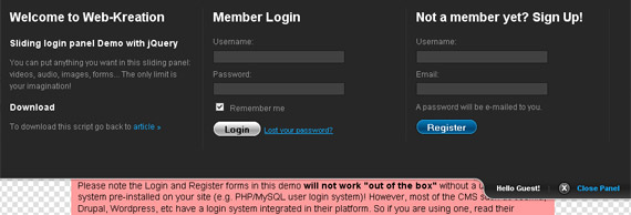 nice-clean-sliding-login-panel-jquery