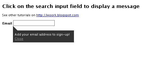 search-input-field-display-message