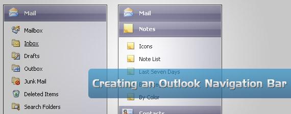 outlook-drop-down-multi-level-menu-navigation