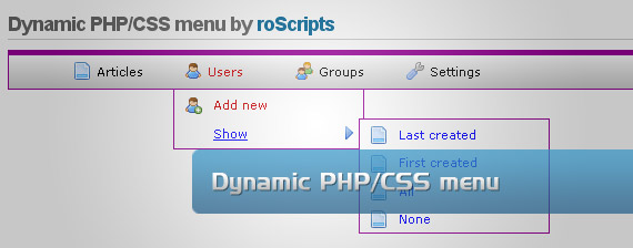 php-css-drop-down-multi-level-menu-navigation